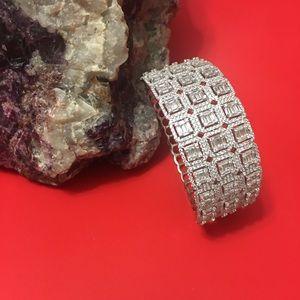 """Jewelry - Luxury Solid Silver 925 Bracelet With CZ, 6.5"""""""